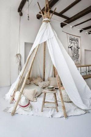 Jut en Juul Lifestyle for Kids: Inspiratie voor de kinderkamer....... DIY Tipi tent!