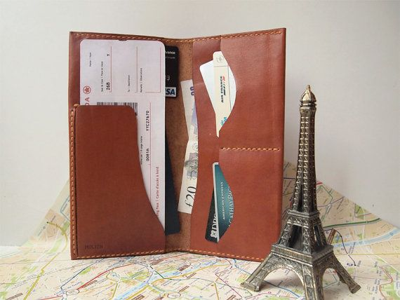 Personalized Passport & Boarding Pass Case / Wallet by HarLex