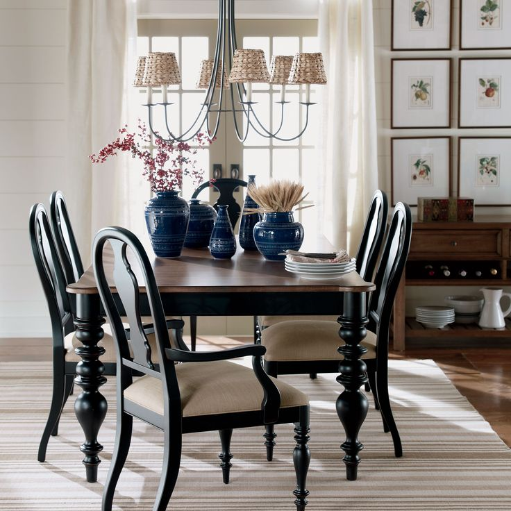 Wonderful Ethan Allen Dining Room Chairs For Traditional: Turret Dining Table - Ethan Allen US