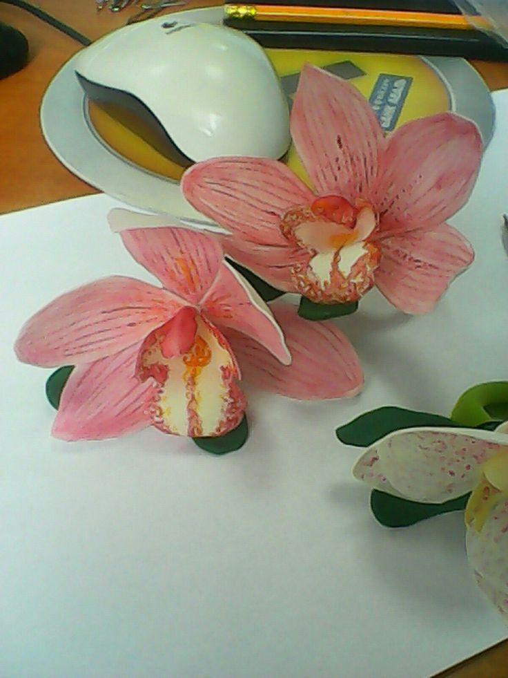 Орхидеи из фомиарана,   ручная работа.