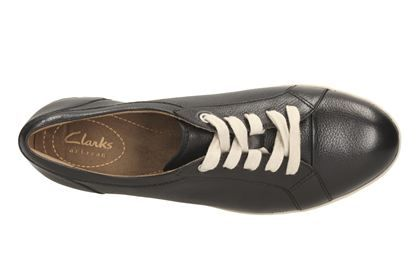 Clarks Cordella Chant - Black Leather - Womens Casual Shoes | Clarks