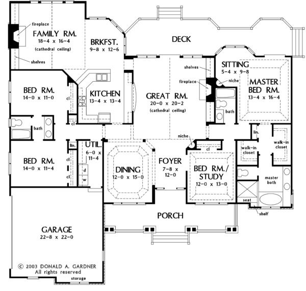 Country Style House Plan   4 Beds 3.00 Baths 2818 Sq/Ft Plan #929
