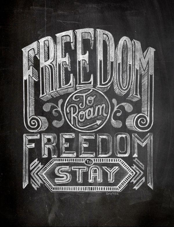 Chalk Typography by Stuart Smythe.