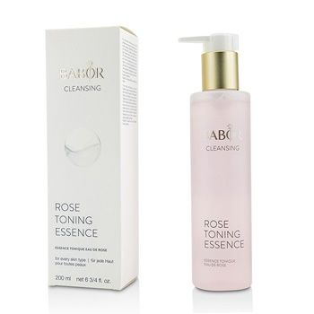 Babor CLEANSING Rose Toning Essence Skincare An alcohol-free facial toner  Contains natural rose extract & a detoxifying extract of agrimonia eupatoria  Blended with allantoin, bisabolol & panthenol for calming & relaxing properties  Leaves skin refreshed, clarified & radiant  Perfect for all skin types