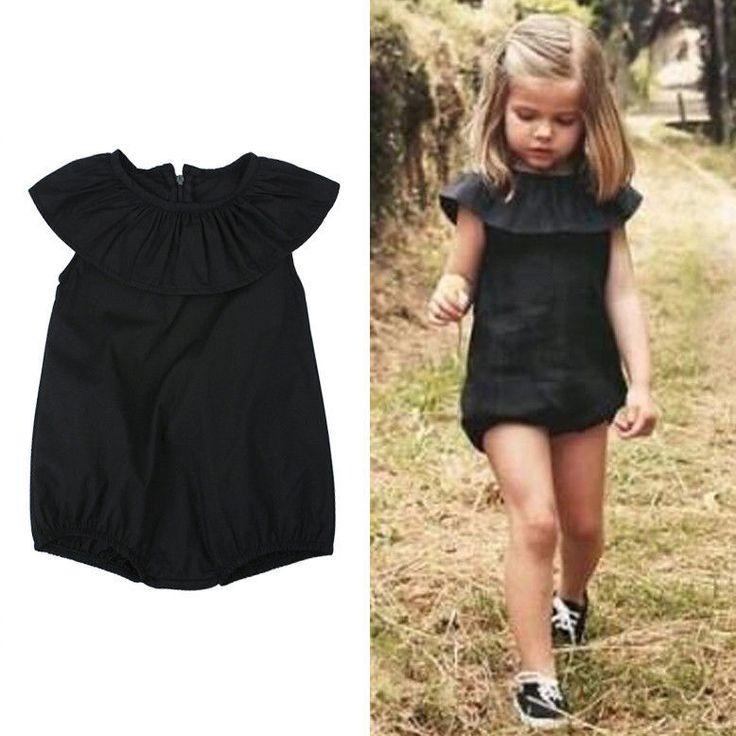 0 4Years Kids ruffle Mameluco Del Mono del Mameluco de Los Bebés negro Playsuit Ropa de Verano Traje Sunsuit en   de   en AliExpress.com | Alibaba Group