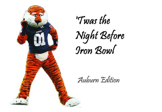 Illustrated 'Twas the Night Before Iron Bowl: Auburn Edition.