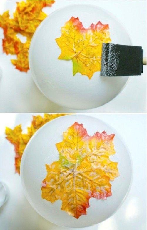 Herbst Blätter Schale basteln. So genial. #herbstallerliebst