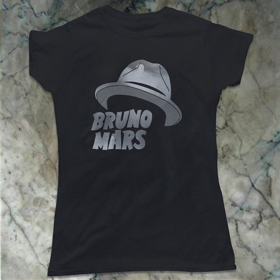 Hat Bruno Mars Woman TShirt Size Print 10x10  Available by BLUOES, $16.99