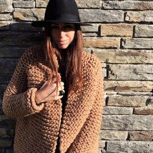 Patrón maxi chaqueta de lana. Este es mi regalo de Navidad para ti | Santa Pazienzia