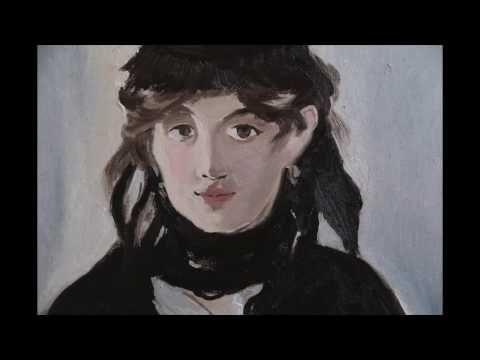 Портрет Берты Моризо, Эдуард Мане, 1 часть, полный видеоурок, копируем импрессионизм - YouTube