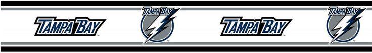NHL Tampa Bay Lightning Prepasted Wall Border-Sports Hockey Wallpaper Decor Roll #Unbranded