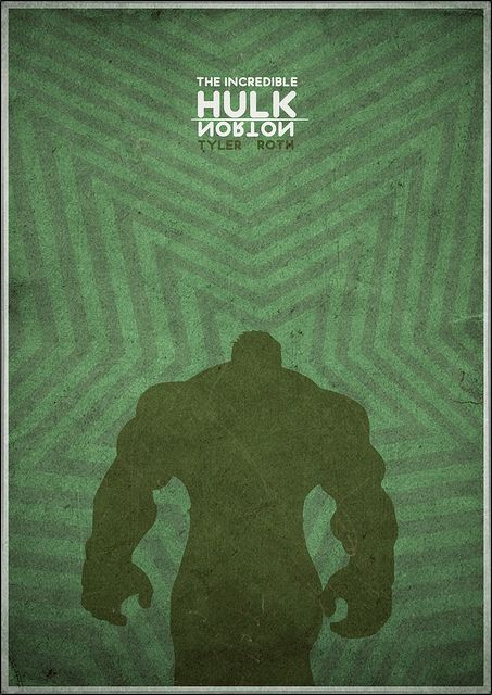 The Incredible Hulk - Minimalist Poster by H. Svanegaard, via Flickr