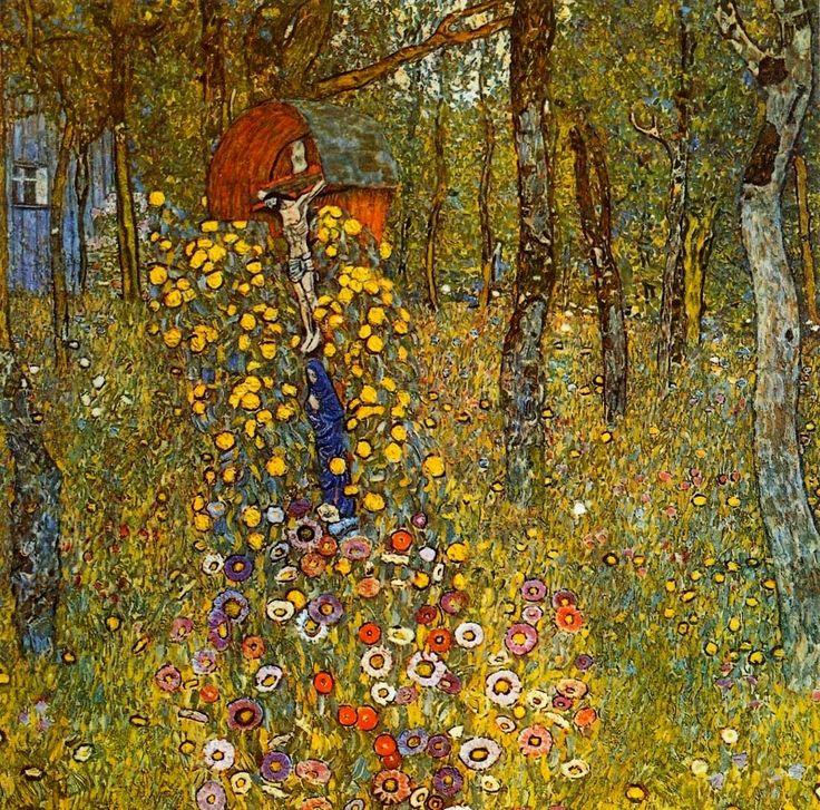❀ Blooming Brushwork ❀ - garden and still life flower paintings - Gustav Klimt