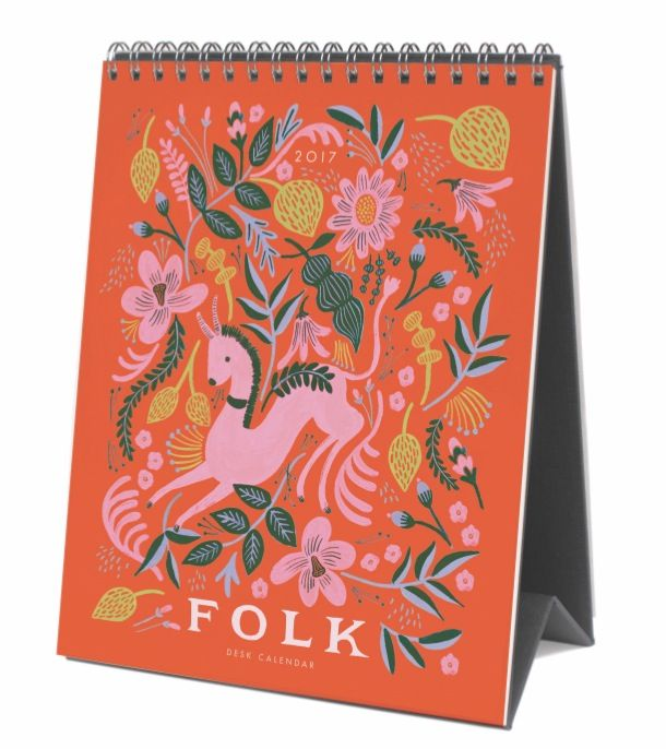 Rifle Paper Co. 2017 Folk Desk Calendars, designed by Anna Bond.  Available at Northlight soon.