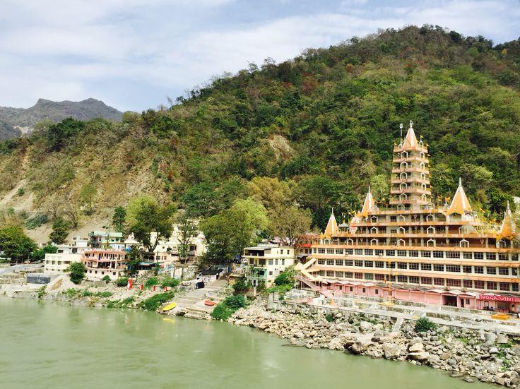 View from Lakshman Jhula bridge. Rishikesh