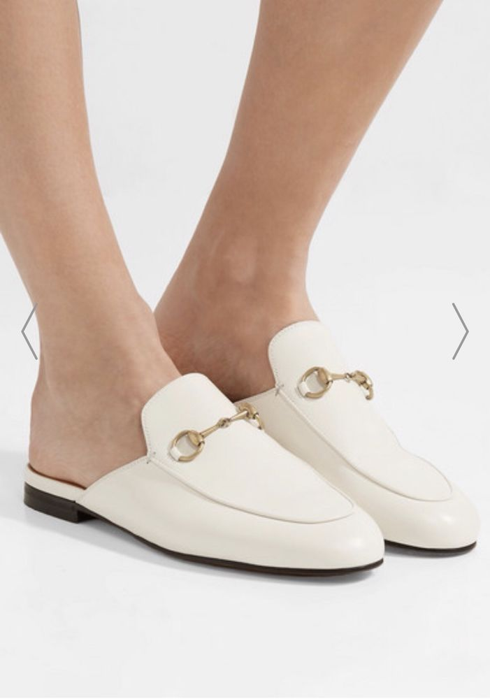 d9b67d18318 100% Authentic Gucci Prinetown Horsebit Mule White 36.5  fashion  clothing   shoes  accessories  womensshoes  flats (ebay link)