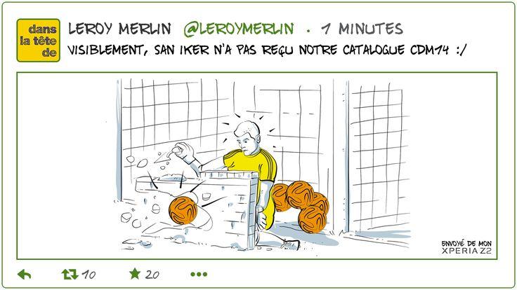 4e buts pour la #NED! Casillas a-t-il pensé à déclarer son changement d'adresse? cc @GroupeLaPoste