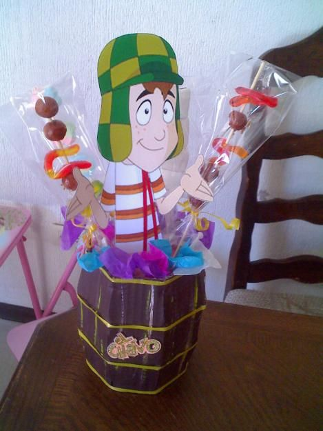 El Chavo Animado Centerpiece El Chavo Birthday Party
