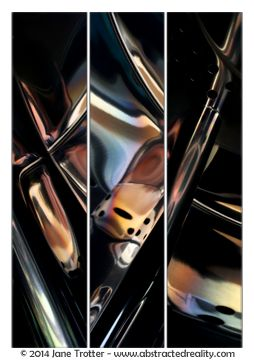 Abstract art to challenge your imagination. 'Deus Ex Machina' - an abstract photograph created by Jane Trotter. Visit the website abstractedreality.com for the story behind the image. Fine Art Prints available. #abstract #art #photography #creative #triptych