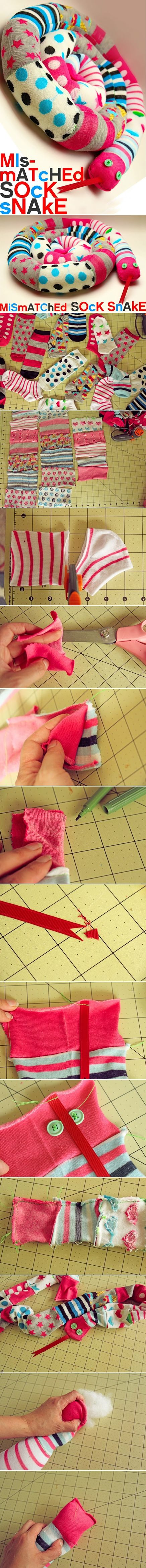 How-to-sew-cute-DIY-snakes-with-mismatched-socks-step-by-step-tutorial-instructions