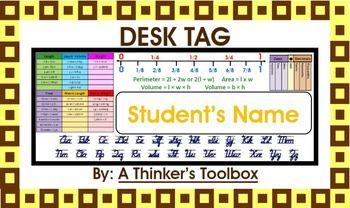Included are desk tags that you can personalize with your student's names.These are common core aligned and are great for your 4th or 5th Graders.