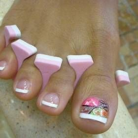 The 25 best french pedicure designs ideas on pinterest wedding the 25 best french pedicure designs ideas on pinterest wedding toes wedding toe nails and bridal toe nails prinsesfo Choice Image