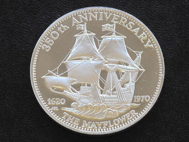 350th anniversary mayflower sterling silver coin medal