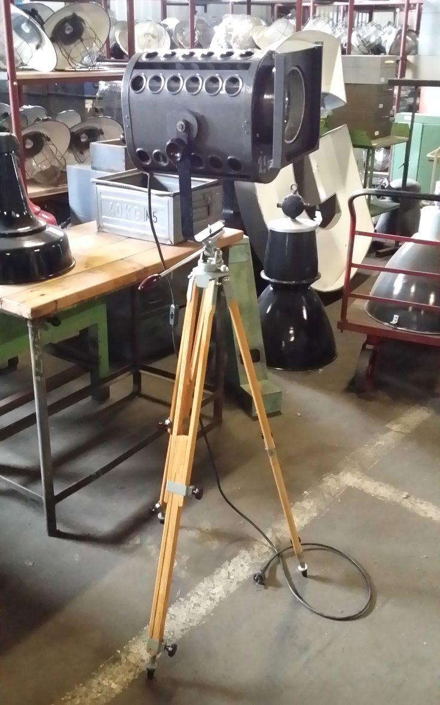 lamp on a tripod
