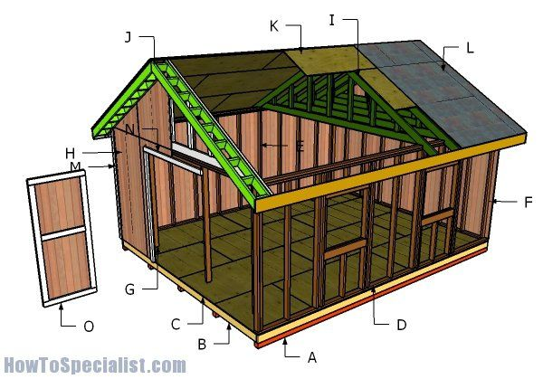 39 best sheds images on pinterest woodworking for 16x20 deck plans