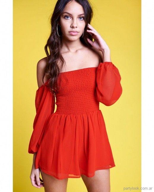 vestido corto rojo de fiesta para adolescentes 47 street verano 2019 ... 095ada64ac8c
