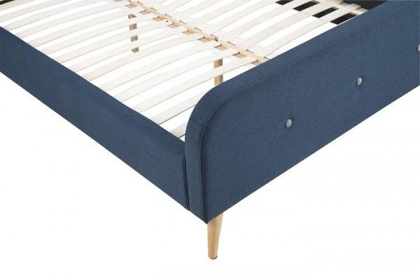 Łóżko Paradise 140 Blue niebieskie z tkaniny nogi drewniane