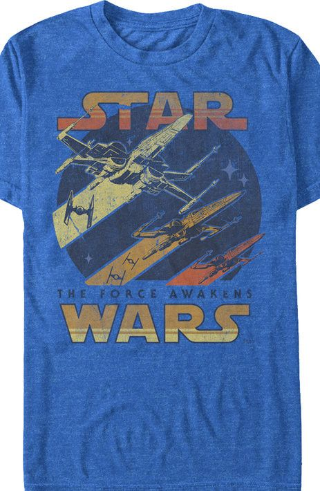 Star Wars Force Awakens Galactic Battle T-Shirt