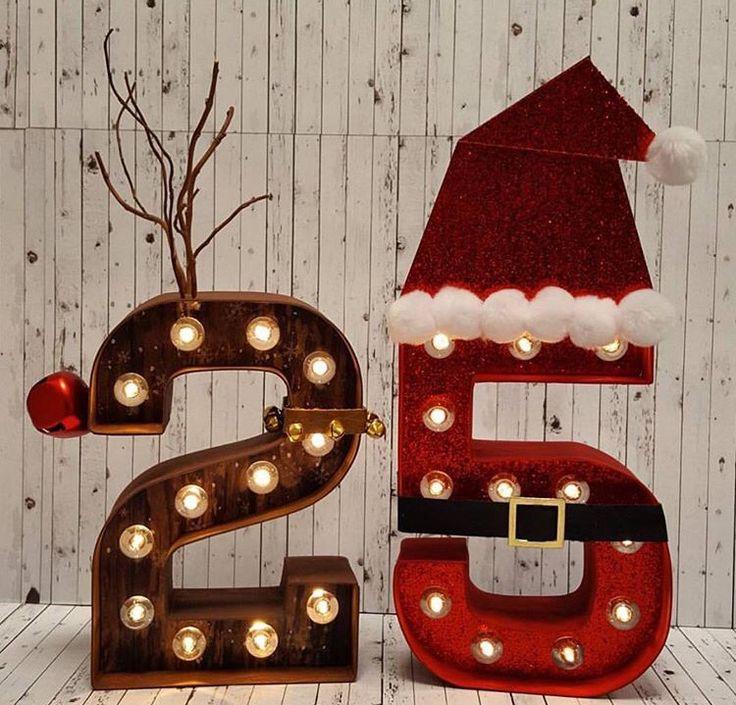 Heidi Swapp marquee Christmas Santa Rudolph