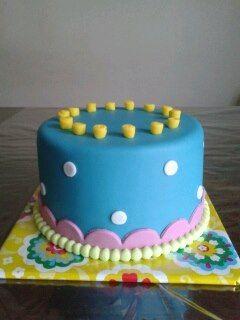 Blauwe verjaardagstaart | Simsalataart Tegelen