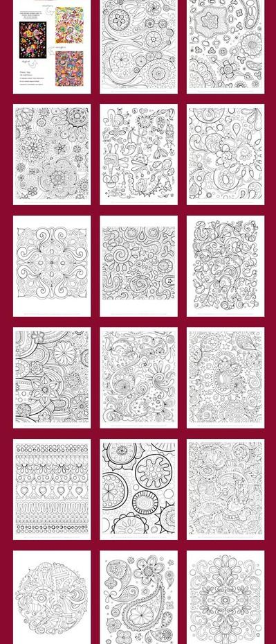 I used to love doing this as a kid.   Printable Abstract Coloring pages