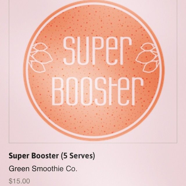 Ditch toast for breakfast and instead try our signature mix: the Super Booster! Generous serves of your favourite superfoods for less than the cost of a coffee...if you wrap and freeze bananas this will take you 5 minutes to make in the morning. Benefits from acai, with calcium and fibre, iron and zinc-packed goji berries and delicious cacao, which delivers slow-release energy and flavonoids. Ingredients: Spirulina, chia, maca, acai, goji, cacao, bee pollen, wheatgrass.
