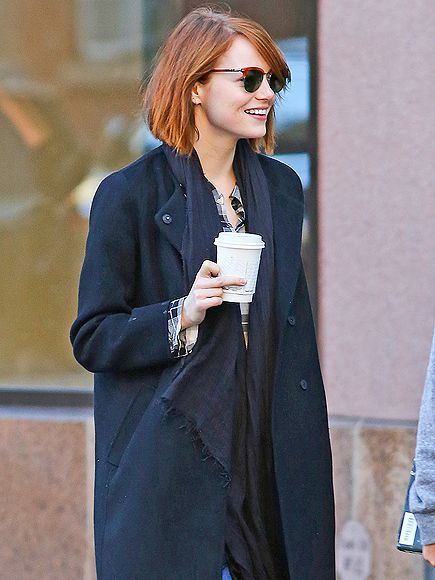 Star Tracks: Tuesday, October 28, 2014 | COFFEE BREAK | A smiley Emma Stone keeps her coffee close as she strolls through New York City with boyfriend Andrew Garfield (not pictured) on Monday.