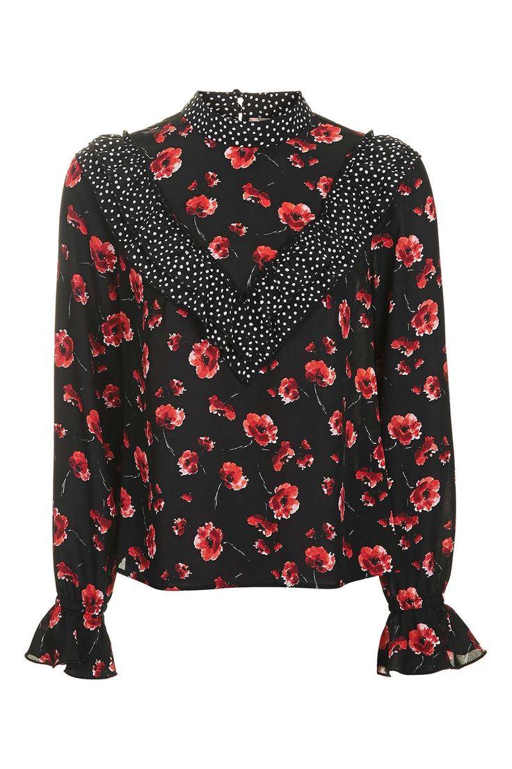 Topshop Reclaim Poppy Print Blouse - Tops - Clothing - Topshop Europe