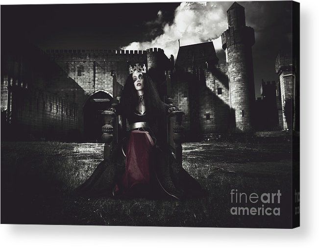 Fine Acrylic Print featuring the photograph Queen Of The Dark Monarch by Jorgo Photography - Wall Art Gallery