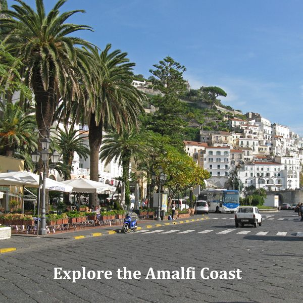 The Amalfi Italy Visitor's Guide focuses on Amalfi Coast tourist attractions, museums, airport, coach and ferry information.