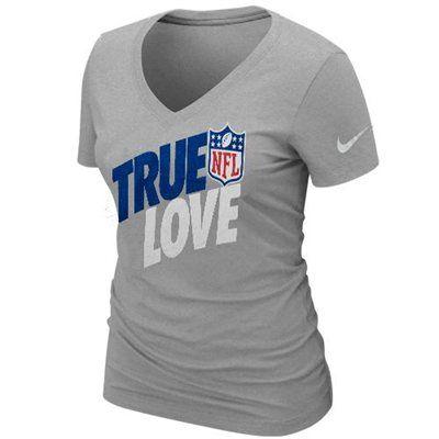 "Nike NFL Football Ladies ""True Love"" Premium V-Neck T-Shirt"