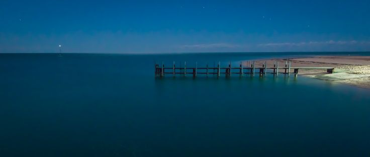 L2M2AS1Ca Moonlit Jetty. D810, Sigma 24mm Art Prime. 30sec, f/16, ISO 2500, B Mode, shutter release and timing with remote trigger.