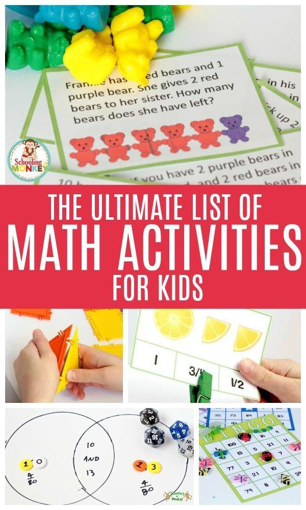 The Ultimate List Of Fun Math Projects For Kids Fun Math Projects Math Activities For Kids Fun Math Activities
