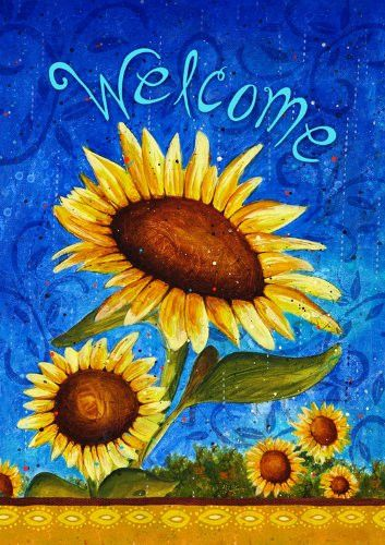 Toland Home Garden Sweet Sunflowers 28 x 40-Inch Double-Sided House Flag