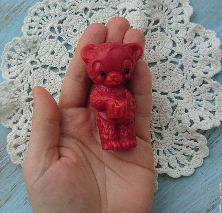 Купить Мишка винтажный - желтый, мишка тедди, винтаж, винтажный мишка, мишка в подарок, СССР