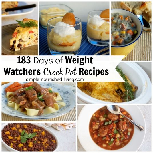 183 Days Weight Watchers Crock Pot Recipes | Weight Watchers friendly crock pot recipes with calories and points plus details.