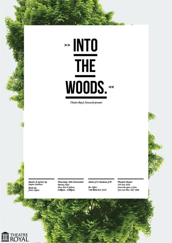 Theatre Royal - affiche Into the woods