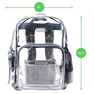 bf39092b3f Heavy Duty Clear Backpack - Cool Gray - THE SMARTY CO.