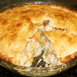 Chicken pot pieTasty Recipe, Cooking Recipe, Pies Recipe, Pies Crusts, Chicken Pot Pies, Puff Pastries, Coaches, Chicken Pots Pies, Comforters Food