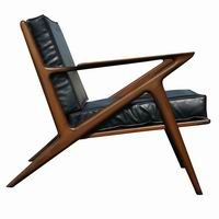Mid century modern. Leather and wood chair